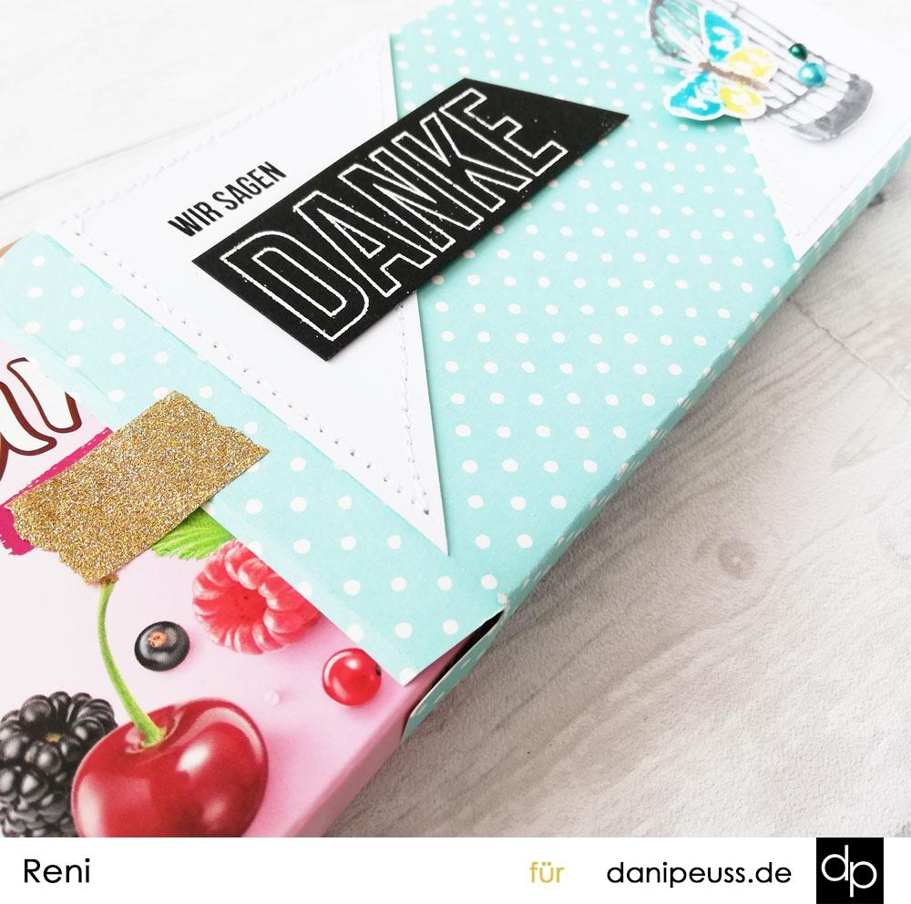 Schokoladenverpackung mit DIY Embellishment | Klartext-Stempel