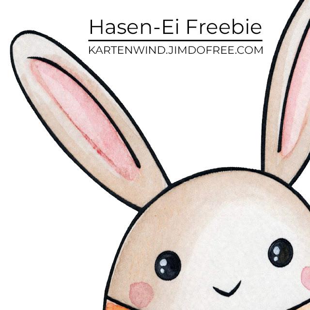 Hasen-Ei Freebie Printable zu Ostern
