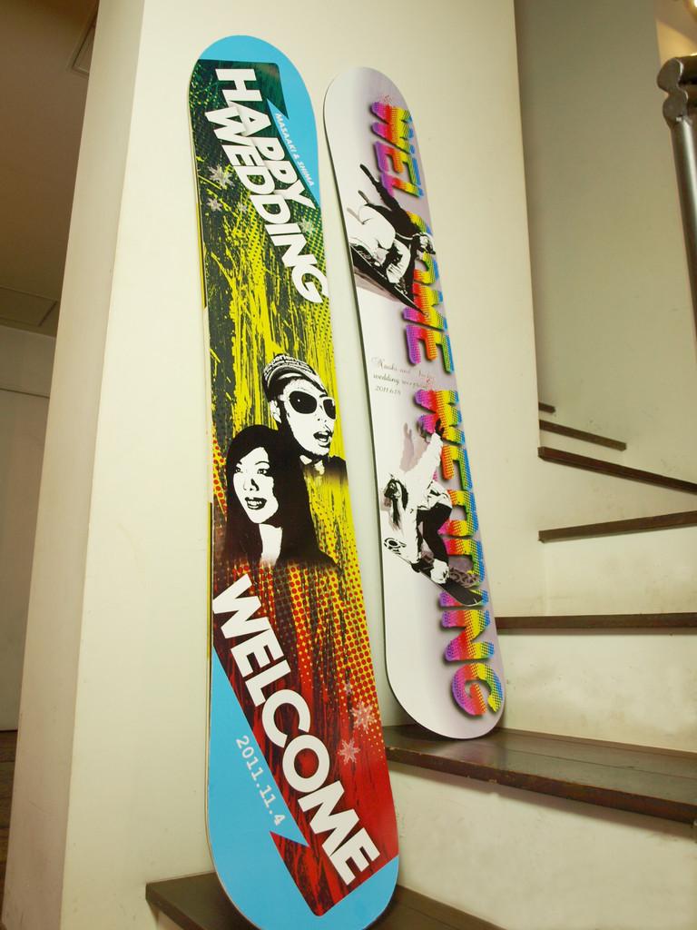 ウェルカムボード スノーボード 作品3