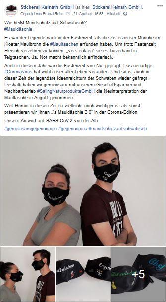 Social Media Kampagne #Mauldäschle