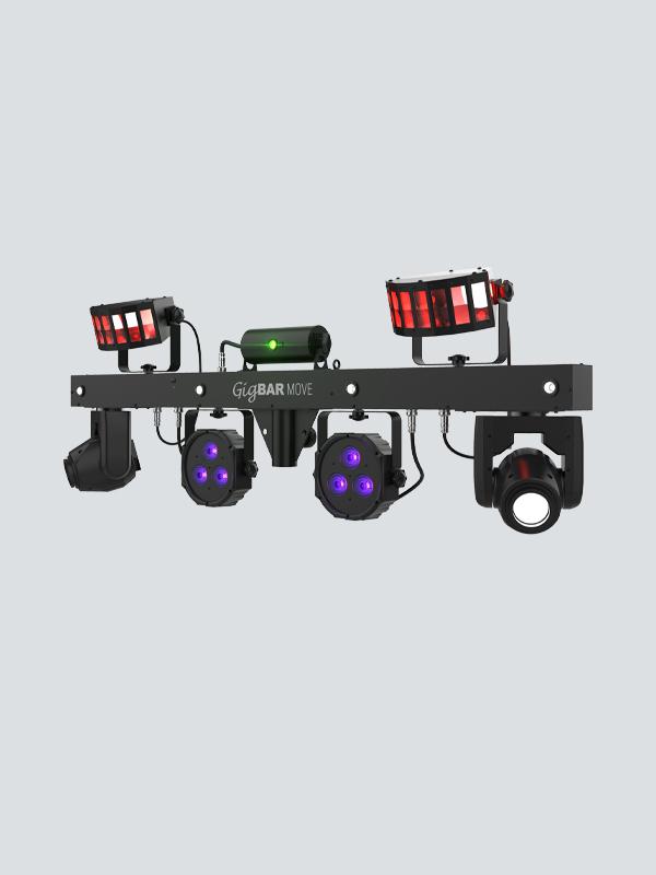 GigaBar Move Bar für DJ Veranstaltungen / Verleih: Sobald Eurolite nachlegt mit Laser Zulassung 2M