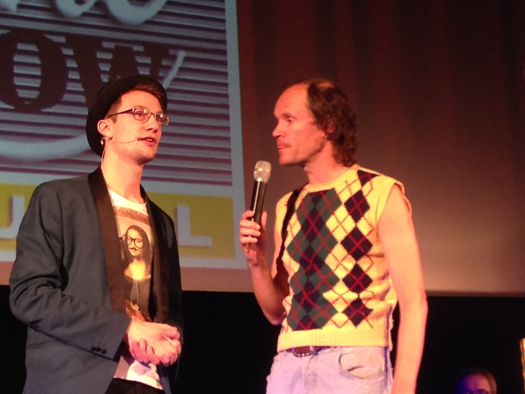Dresdner Stadtrundshow mit Olaf Schubert 02.03.2015 -  auch Olaf Schubert war begeistert