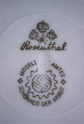 Unterseite von Rosenthal-Teller
