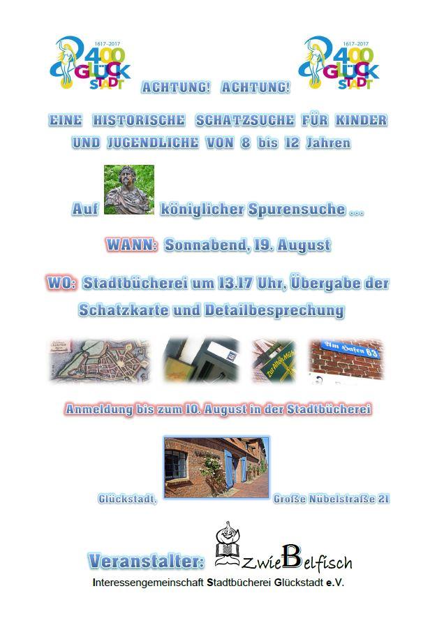 Plakat Historische Schatzsuche