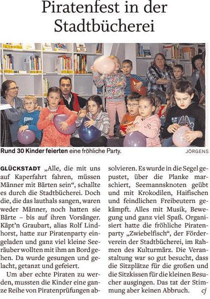 Piratenfest im der Stadbücherei