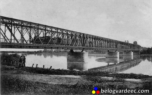 Мост через Кубань, дореволюционное фото.