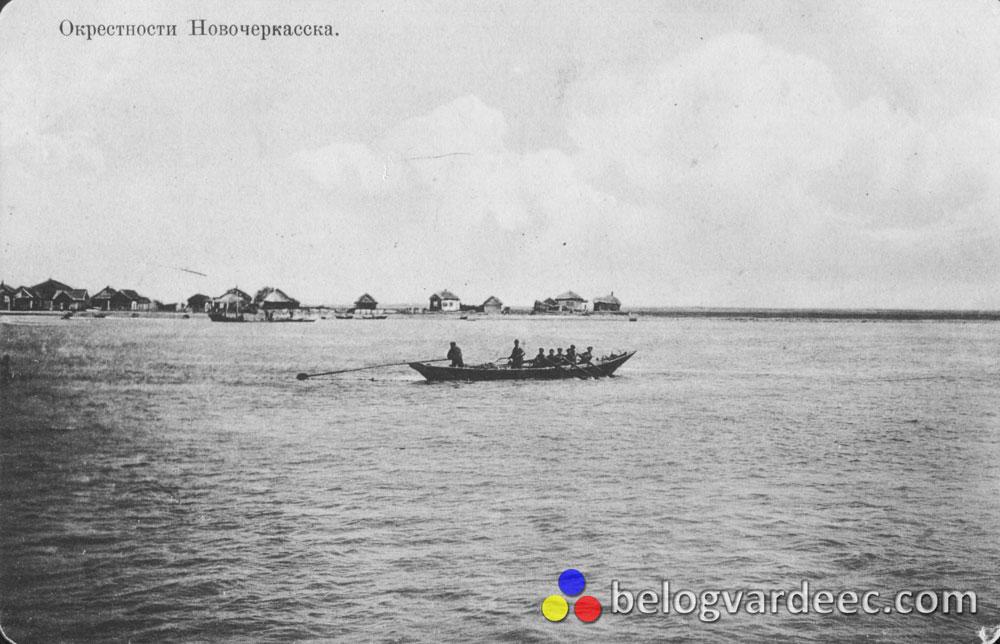 Барка плывет с Кривянской в Новочеркасск.