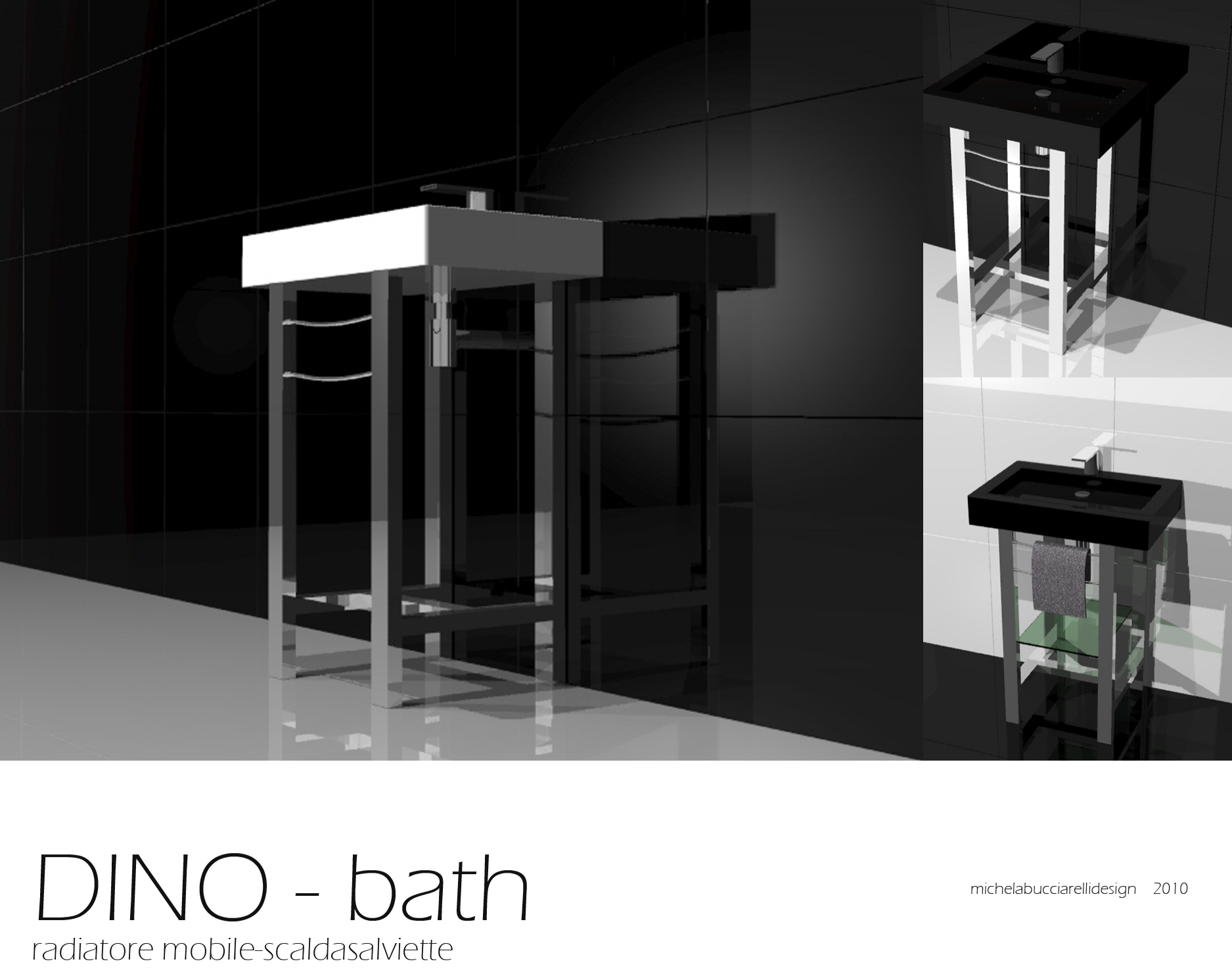 Dino - Studio radiatore arredobagno 2008 -2010 ADHOC Gruppo Ragaini   rendering.