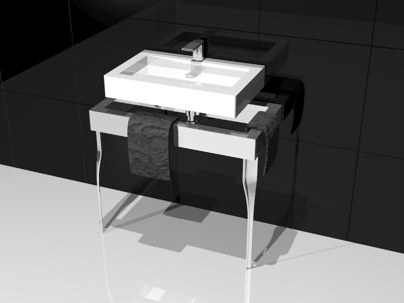 Belle - La bellezza è anche commistione di contemporaneo e tradizionale. Studio radiatore arredobagno 2009 ADHOC Gruppo Ragaini   rendering.