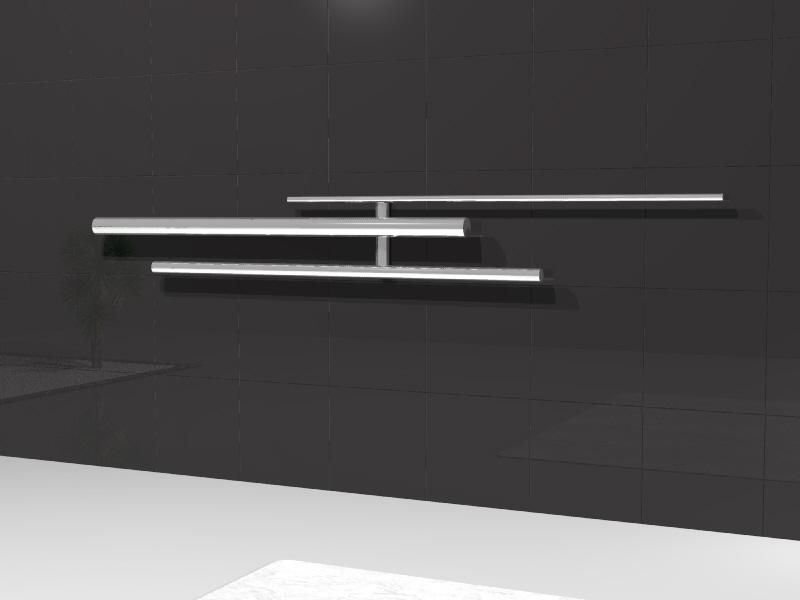 Bamboo -  orizzontale | verticale | freestanding |    Alluminio pressofuso + inserti vero legno di bambù  Studio radiatore 2009 ADHOC Gruppo Ragaini   rendering.