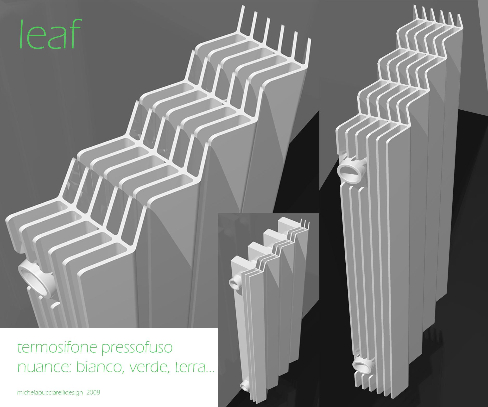 Leaf - Studio radiatore 2008 ADHOC Gruppo Ragaini   rendering.