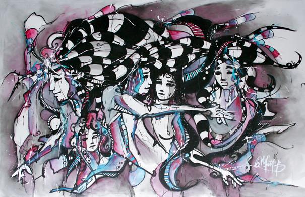 Live n°28 // Acrylique sur toile // 190/300 cm