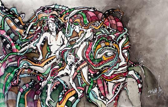 Live 70 // acrylique sur toile // 190/300 cm