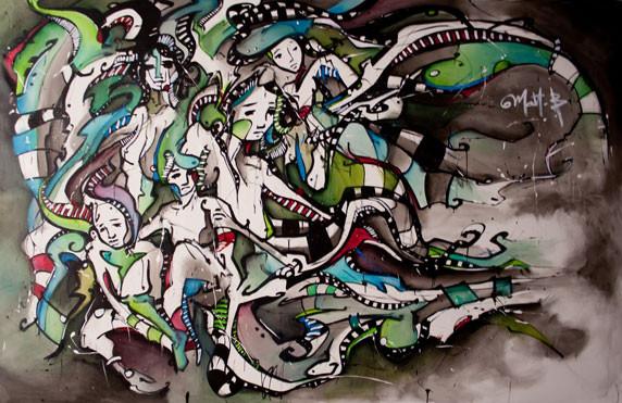 Live 43 // acrylique sur toile // 190/300 cm // 3h