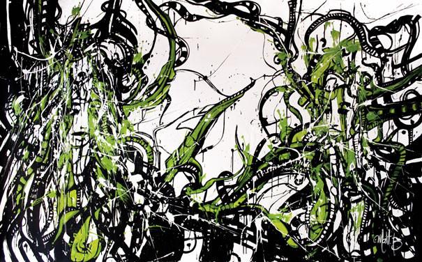 Live n°09 // Acrylique sur toile // 125/200 cm // 2h