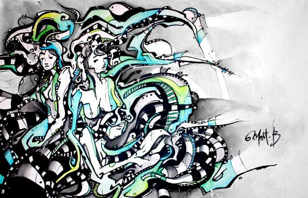 Live 40 // acrylique sur toile // 190/300 cm // 3h