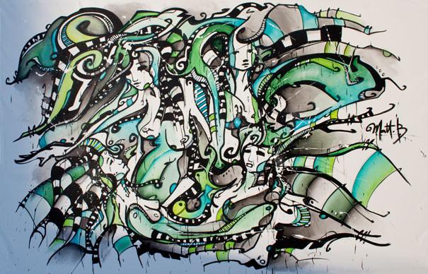 Live 36 // acrylique sur toile // 190/300cm // 3h