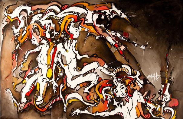 Live 51 // acrylique sur toile // 190/300 cm // 3h