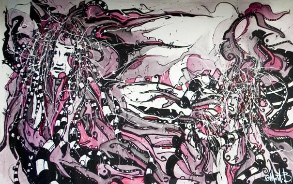 Live n°14 // Acrylique sur toile // 190/300 cm
