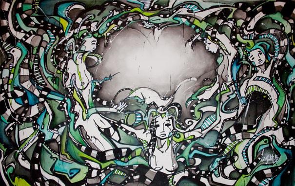 Live 52 // acrylique sur toile // 190/300 cm // 3h