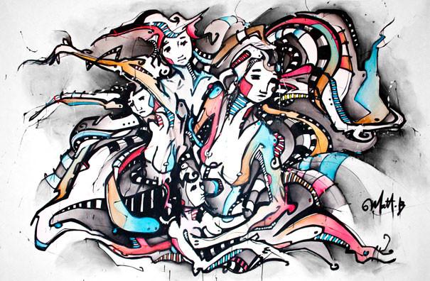 Live 39 // Acrylique sur toile // 190/300 cm // 3h