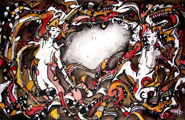 Live 53 // acrylique sur toile // 190/300 cm // 3h