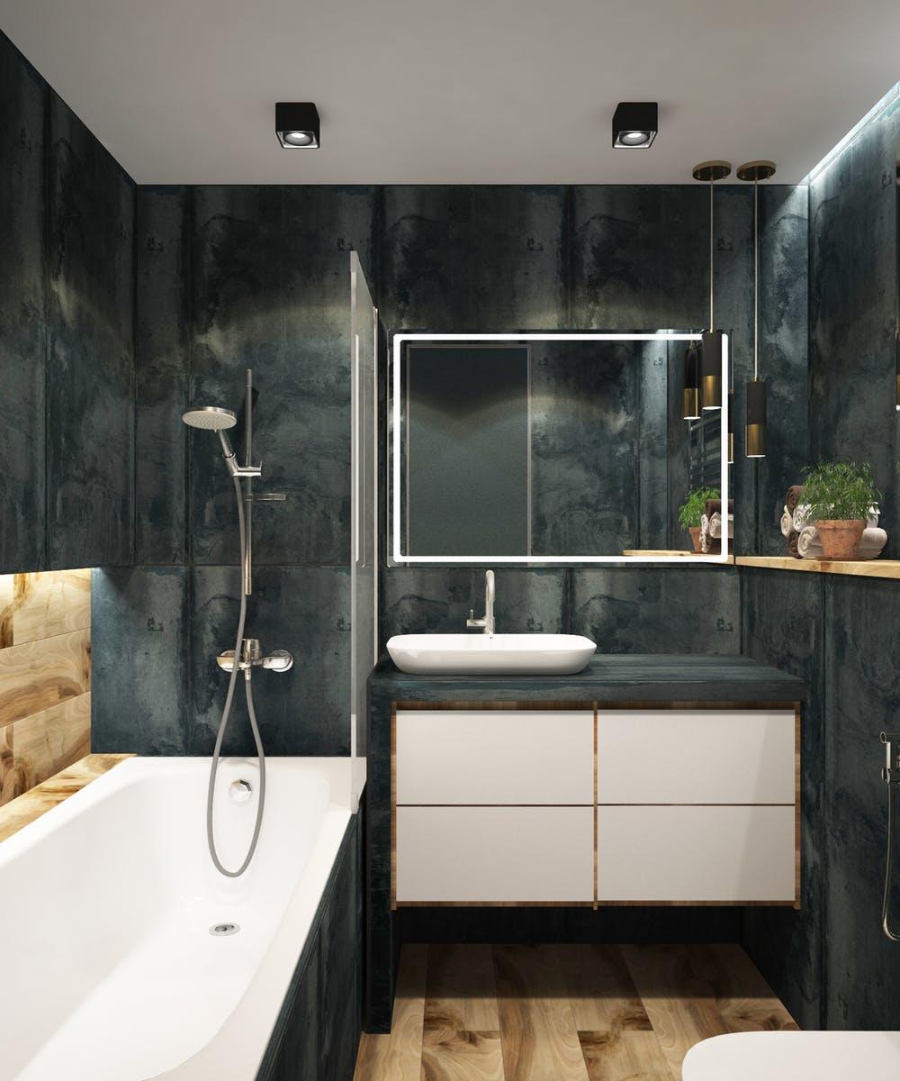 Symbolbild Badezimmer aus Holz