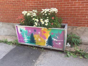 Grands bac à fleurs de la ruelle verte LA VOIE LACTÉ
