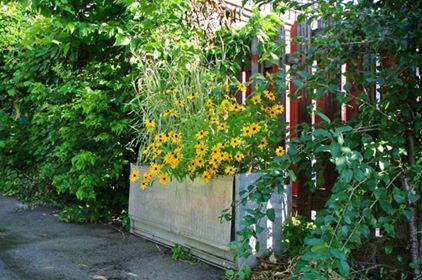bac à fleur upcycling  de la ruelle verte - LE RACCOURCI