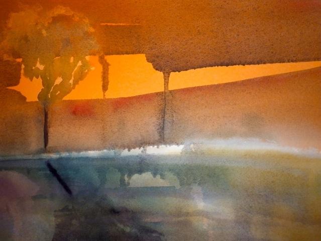Drôme 4   ---   2011 - Aquarelle - 20 x 30 cm