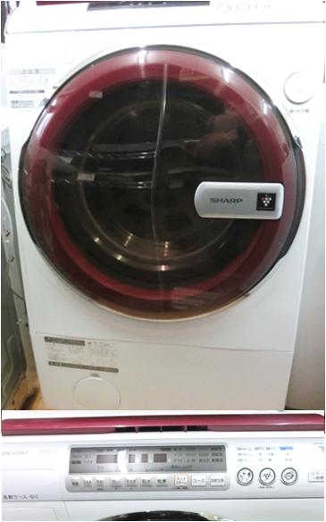 シャープ 2010年製 ドラム式 10K乾燥機能付
