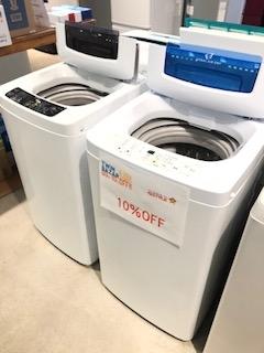 除菌清掃済みの格安洗濯機