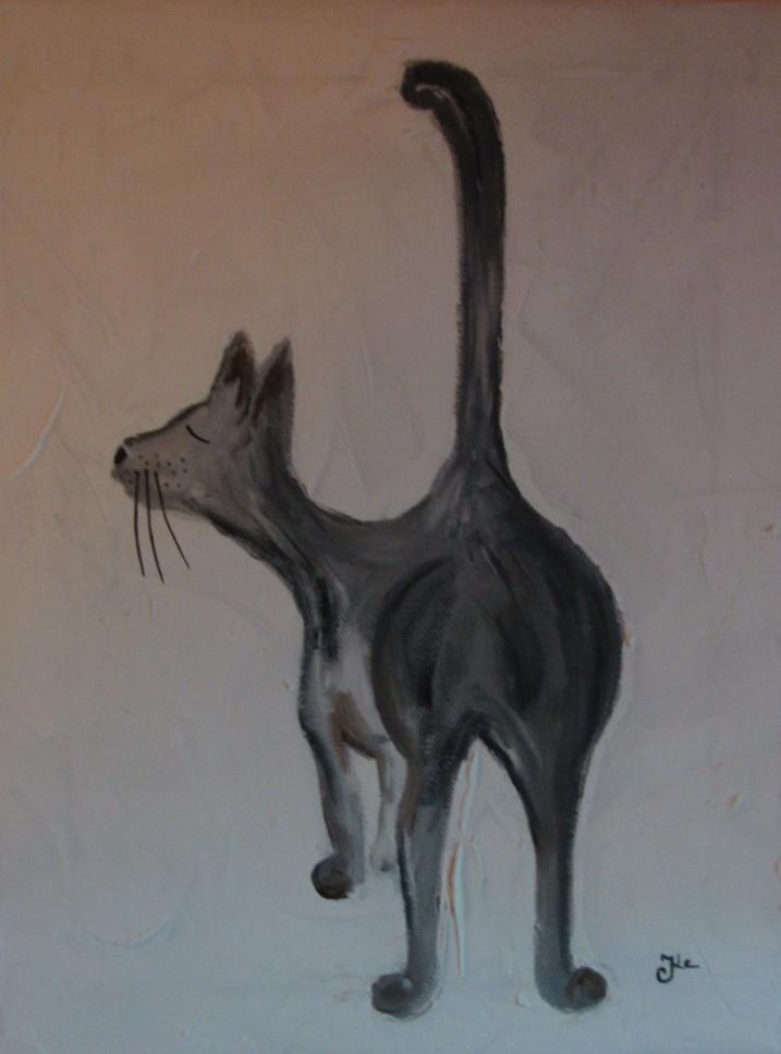 Katze II /40 x 30 cm