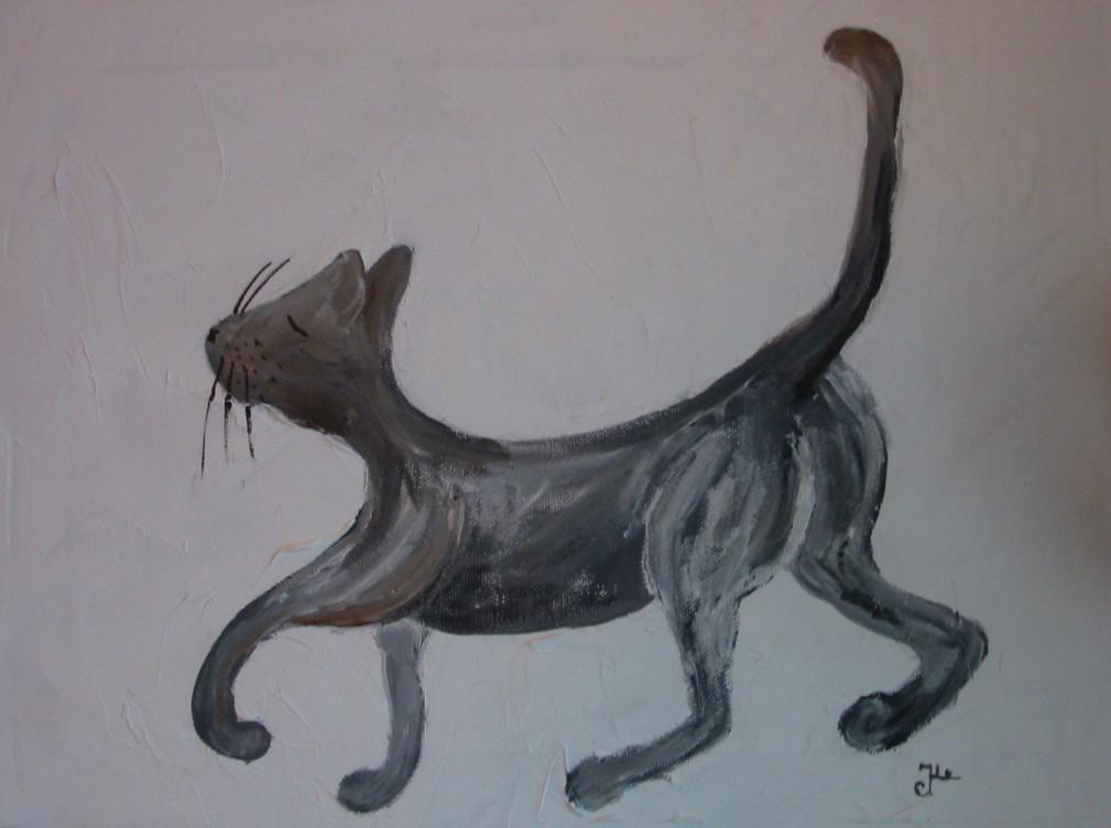 Katze I / 40 x 30 cm