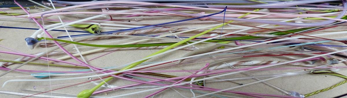 Glasfäden handgezogen