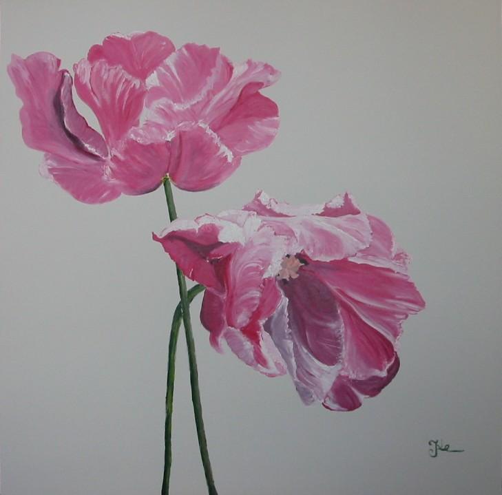 Blume pink / 120 x 120 cm