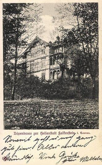 Dependance zur Heilanstalt Falkenstein, Postkarte 1906