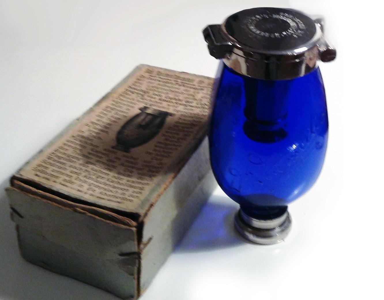 Blauer Heinrich Geheimrath Dr Dettweiler´s Taschenflasche für Hustende