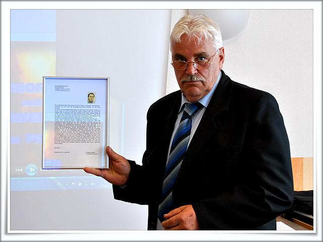 ...und Wolfgang Mohns die Ehrenurkunde