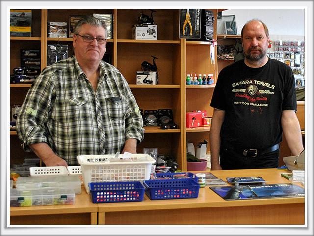 Inhaber Ulli Magnus und Angestellter Axel Wallis (v.l.n.r.)