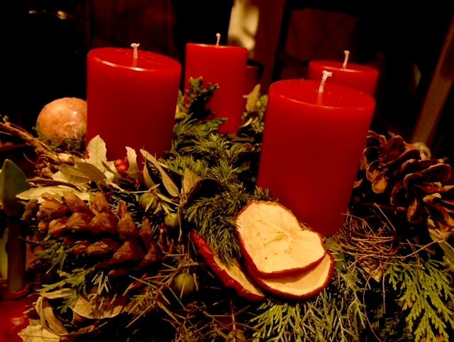 Der klassische Adventskranz