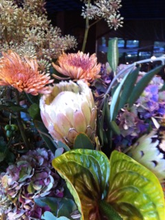 Blumen als Überraschungsgruß, Gratulation ...