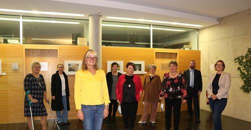 Eröffnung der Kunstausstellung Kunst verbindet im Rathaus Hallbergmoos 22.10.2020 (Foto Mookurier)