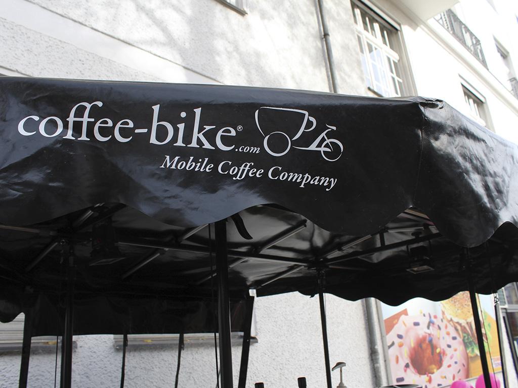 Aktionen auf der Straße: Coffee Bike