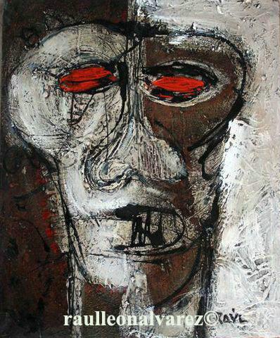 Titel: A veces me veo y no me reconozco– Ibland ser jag på mig själv och jag känner inte igen mig Mått: 54,5*45 cm Teknik: Blandteknik på duk
