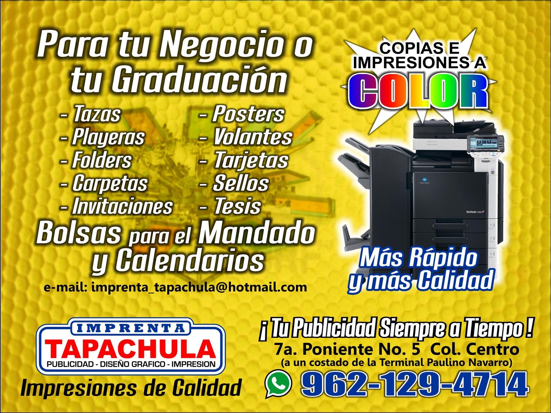 Imprenta Tapachula - Sellos, Copias y Empastado de Tesis