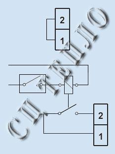 Электрическая схема дистанционного управления водонагревателя Татрамат