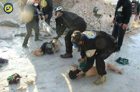 В Сирии спасают детей, после химической атаки правительственных войск. А ведь химические бомбы оказались российскими!