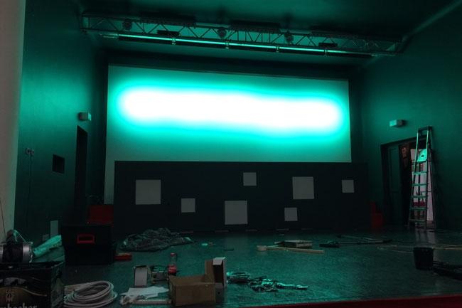 Umbauarbeiten an unserer Bühne