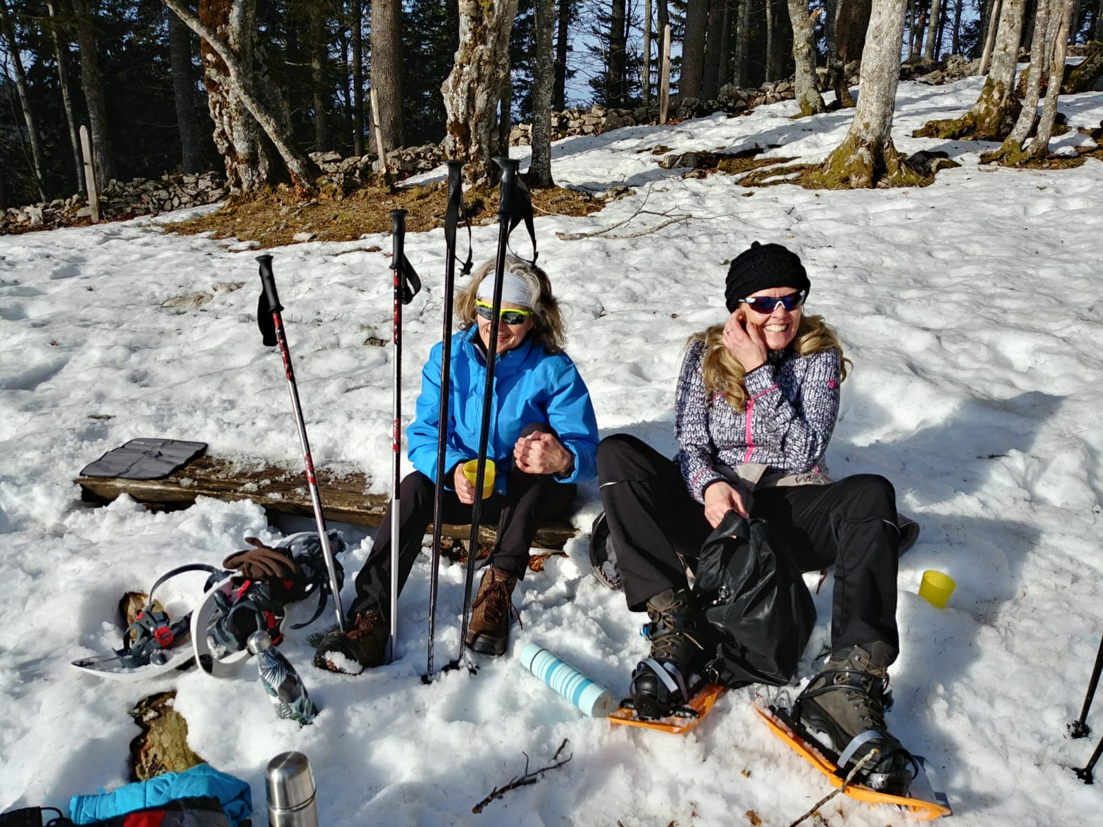 Schneeschuhlaufen Prés d'Orvin